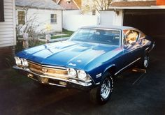 """Here is the car I restored, a 1968 Chevelle SS I put a 350 engine in, as opposed to the 496 big block, as they were rare and expensive. I bored the cylinders of the 350 30over spec to make it a 355. Just a little """"pep"""" for the small block."""