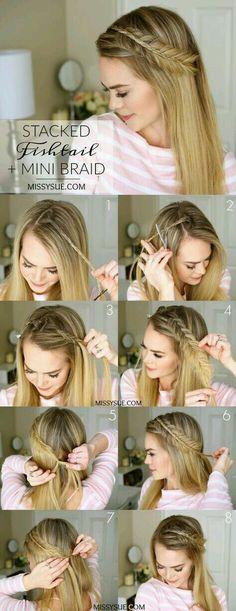 Pretty Hairstyles, Straight Hairstyles, Wedding Hairstyles, Hairstyle Ideas, Simple Hairstyles, Hairstyles Men, Asymmetrical Hairstyles, Style Hairstyle, Fringe Hairstyles