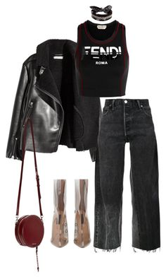 """Untitled #943"" by abbygbrewer on Polyvore featuring H&M, Fendi, RE/DONE and Fallon"