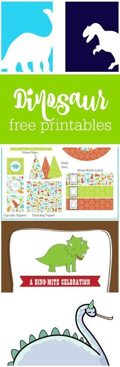 Freebie Friday: Free Dinosaur Party Printables