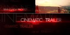 Cinematic Trailer (Abstract) #Envato #Videohive #aftereffects