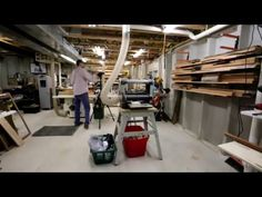 WoodRack Storage Shelves on Concrete