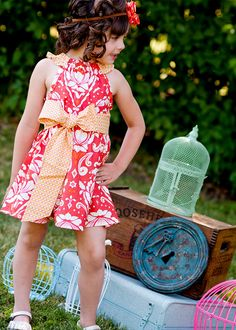 Ruffled Neck Party Dress for Babies Toddlers & Girls by thomaspark, $45.00