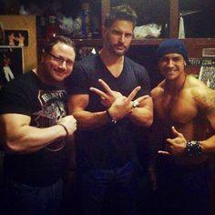 Joe Manganiello at LABARE DALLAS! With Nick & David