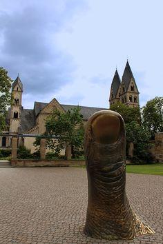 Giant Sculpture Of Finger, In Koblenz, Germany
