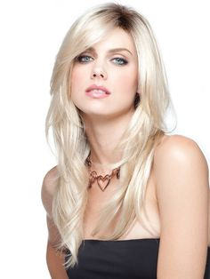 Shilo-monofilament wig with roots. Creative wigs, Melbourne. Ships Australia wide.