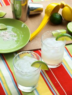 The Best Margarita Recipe Ever. You'll never buy a pre made mix again. Homemade margaritas are the way to go!