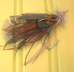 Custom nautical fly fishing wedding boutonniere lure. $13.00 themarriedapp.com hearted <3