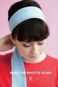 The Brigitte Scarf | 25 Easy Sewing Projects That Every Beginner Will Find Inspiring