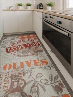 Küchenläufer London Grau