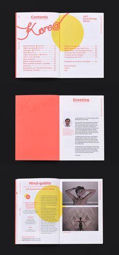 코리아 프린지 브로슈어 2017 | 슬로워크 Magazine Layout Design, Book Design Layout, Print Layout, Magazine Layouts, Design Design, Editorial Design, Editorial Layout, Template Brochure, Design Brochure