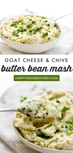 The perfect side dish for your holiday table, this creamy dreamy butter bean mash is a lighter, protein packed alternative to mashed potatoes that doesn't compromise on taste or the comfort factor! Vegetarian Christmas Recipes, Vegetarian Thanksgiving, Best Vegetarian Recipes, Thanksgiving Recipes, Healthy Recipes, Holiday Recipes, Healthy Food, Vegetarian Side Dishes, Healthy Dishes