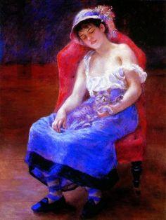 Pierre-Auguste Renoir ~girl in blue
