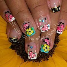 Uñas Decoradas Great Nails, Cute Nail Art, Daisy Nails, Nail Art Techniques, Girls Nails, Acrylic Nail Art, Toe Nails, Nail Nail, Manicure And Pedicure