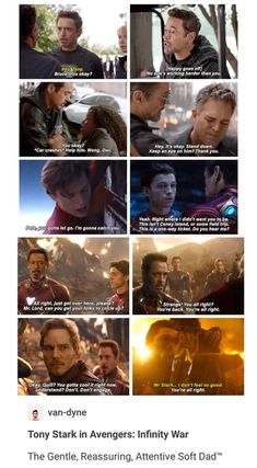 His character development is one of the purest things. Tony taking care of his team in Avengers: Infinity War Marvel Funny, Marvel Dc Comics, Marvel Avengers, Avengers Memes, Marvel Memes, Dc Memes, Downey Junior, Fangirl, Fandoms