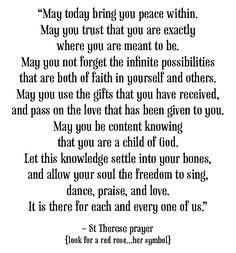 ST THERESE prayer