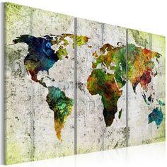 East Urban Home Leinwandbilder-Set Farbenfrohe Reisen World Map Painting, World Map Canvas, Painting Prints, Wall Art Prints, Canvas Prints, Framed Prints, Canvas Poster, Poster Prints, Canvas Wall Art