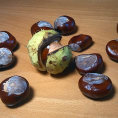 I love autumn! Chestnuts collected yesterday.