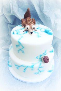 Scrat from the Ice Age. Made by cake designer Martina Di Cristofano.
