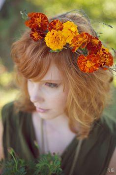 Marigold crown