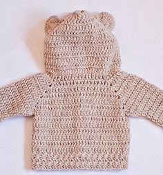 Crochet Cardigan PATTERN pdf file Bear by MonPetitViolonCrafts