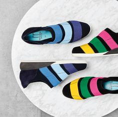 Colourful shoes make our hearts race!!  New sport inspired sneakers TOMKIN by THIERRY RABOTIN Now available at