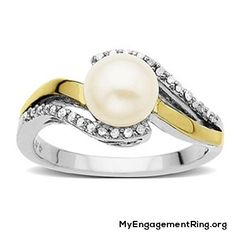 lovely – pearl engagement ring - My Engagement Ring
