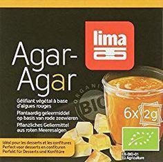 Lima Agar en Poudre Bio 6 x 2 g Lima, Agar Agar, Pure Leaf Tea, Food Hacks, Food Tips, Pure Products, Drinks, Bottle, Desserts