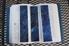 Handmade Watercolor Galaxy Bookmarks blue-violet by OliviaLeighArt