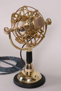 Steampunk microphone for the Girl Genius Radio Theater by Jake von Slatt and the Steampunk Workshop