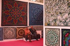Tarek and Hosam at the Festival of Quilts in Birmingham August 2011 by jennybowker, via Flickr
