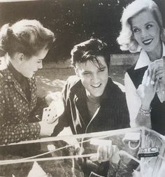 """Baby, Let's Play House: Elvis Presley and the Women Who Loved Him By: Alanna Nash Dolores Hart (left), Elvis, and Lizabeth Scott enjoy a friendly game at Scott's home in Hollywood at the completion of Loving You. """"If there were one thing that I am..."""