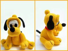 Amigurumi dog Pluto.  The scheme of knitting in Russian.