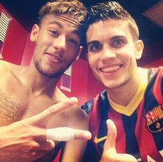 Neymar Jr and Marc Bartra