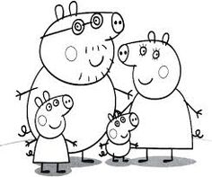 Coloring Peppa Pig Images Pigs Party Ideas On Pages Pri Printable Colouring Kids
