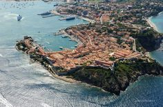 Panoramica di Portoferraio su http://www.aisoladelba.it