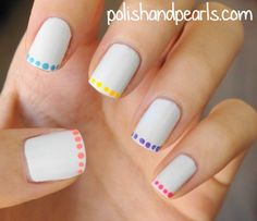 Looking for simple nail designs for the perfect manicure? We've put together a list of wonderful nail art designs that even a novice can do! Diy Nail Designs, Simple Nail Art Designs, Easy Nail Art, Nail Art For Beginners, Beginner Nail Art, Beginner Nail Designs, Beginners French, Nagellack Design, Modern Nails