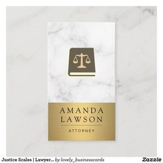 Justice Scales | Lawyer | Law Book Appointment Card