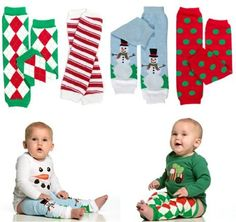 Amazon.com: Christmas 4-Pack baby and toddler leg warmers in argyle candy cane snowman and polka dot by My Little Legs: Clothing - cute :)