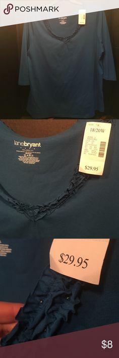 ‼️Price Drop‼️Lane Bryant - NWT 18/20W blue top Lane Bryant - NWT! 18/20W 3/4 sleeve blue top. 60% Cotton / 40% Polyester. Bundle and save! 🤑 Lane Bryant Tops Blouses