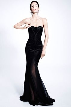 ZAC POSEN Pre-Fall 2012 gorgeous! i love dresses that remind me of Morticia from the Addams Family.(: