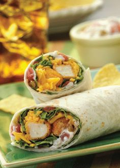 Make these Spicy Crunchy Chicken Wraps next time you're looking for a simple snack or dinner!