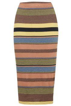 Ribbed Stripe Tube Skirt - Skirts - Clothing - Topshop
