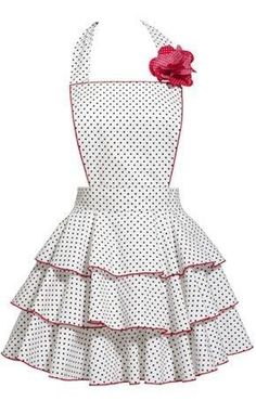 Sensational Tips Sewing Pattern Ideas. Brilliantly Tips Sewing Pattern Ideas. Retro Apron, Aprons Vintage, Retro Vintage, Vintage Dress, Cute Aprons, Flirty Aprons, Sewing Aprons, Apron Designs, Kitchen Aprons