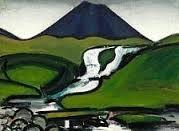 "Samuel Joensen-Mikines: ""Slættaratindur"", the Faroe Islands. Landscape Paintings, Landscapes, Faroe Islands, Aurora Sleeping Beauty, Urban, Disney Characters, Prints, Inspiration, Illustrations"