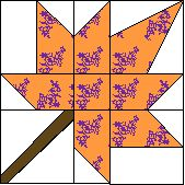 1999 - Autumn Leaf  free pattern - templates