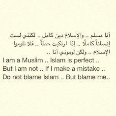 Don't blame Islam