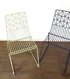 Metal Steel Garden Chair / Outdoor Furniture / Outdoor Chair in Dark Petrol Blue