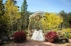 Fall Mountain Top Wedding at Peaceful Valley Resort & Conference Center in Lyons, Colorado.
