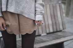 @Megan Ward Phillips I love this too! how to wear shorts in winter // love